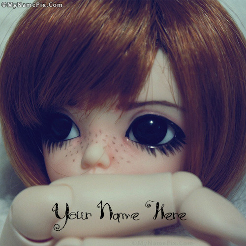 Little Sad Doll Image With Name