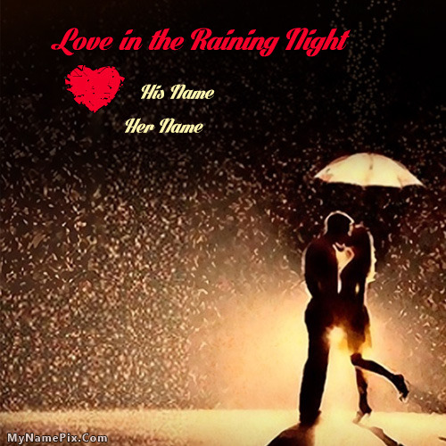 Love in the raining night With Name