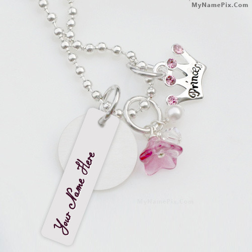 Love Wallpaper With Edit Name : Princess Necklace With Name
