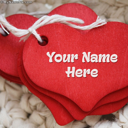 Red Heart With Name