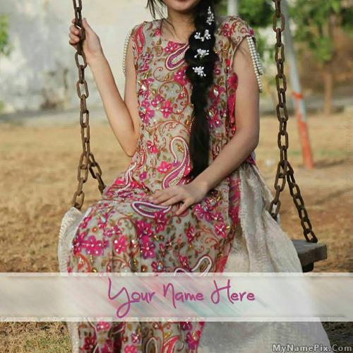 Stylish Beautiful Dress With Name