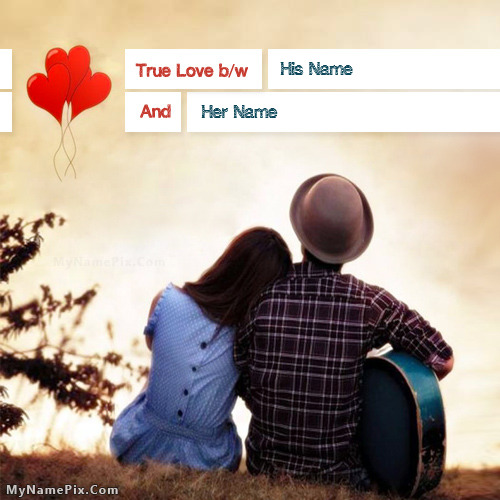 True Couple Love With Name