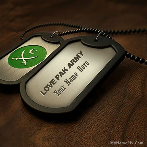 Personalized Pak Army Dogtag With Name