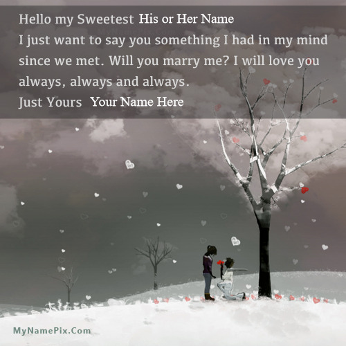 Propose Day Romantic With Name