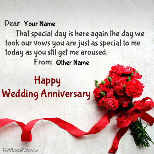 Romantic happy wedding anniversary wishes with name m4hsunfo