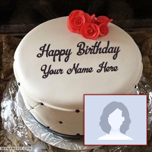 Miraculous Simple Elegant Birthday Cake With Name Funny Birthday Cards Online Bapapcheapnameinfo