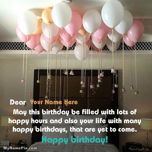 Special Birthday Celebration Balloons Wish