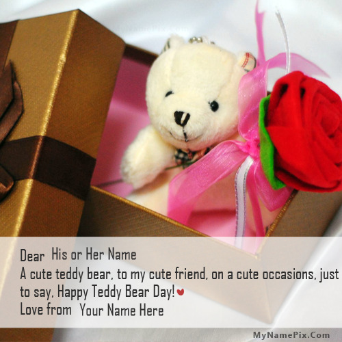 Teddy Bear Day Gift With Name