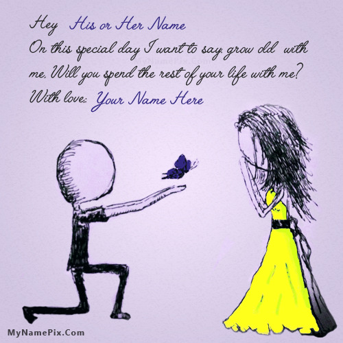 Unique Propose Day Wish With Name