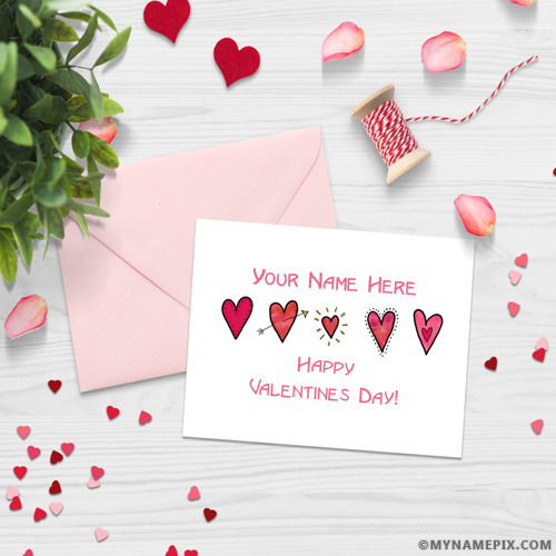 Valentines Day Cards With Name