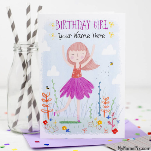 Write Names On Birthday Cards For Girl