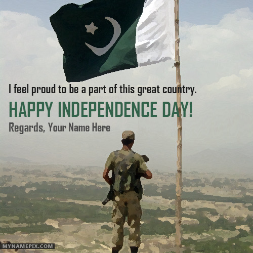 Write Your Name on Pakistan Indpenendence Day Wishes
