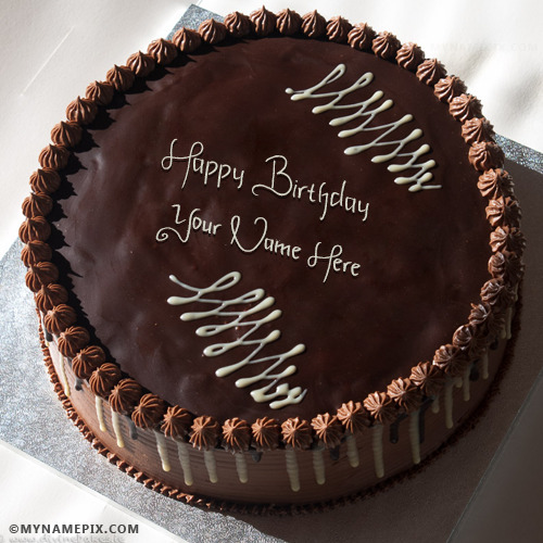 Yummy Chocolate Birthday Cake With Name