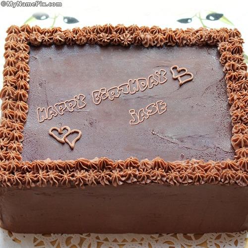 Square Chocolate Cake With Name