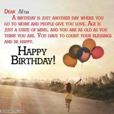 happy birthday afna