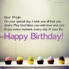 happy birthday prajin